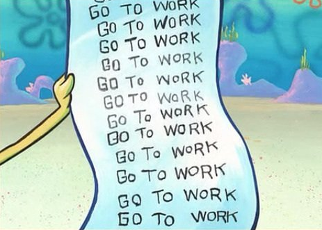 Spongebob Work Schedule Blank Template - Imgflip